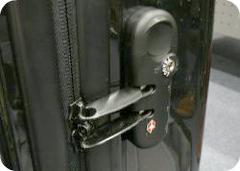 ニッセンのキャリーバッグのTSAロック