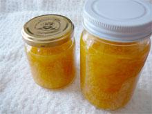 オレンジのヨーグルトソース