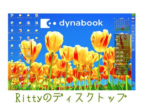 私のデスクトップ環境の一枚目の画像