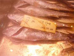 にぎりや海宝(かいほう)新宮店の鮮魚売り場の黒むつ