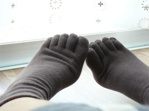 日本製・綿の5本指靴下