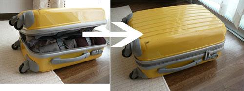 ニッセンのトラベルキャリーバッグに荷物をたくさん入れたところ