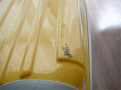 ニッセンのトラベルキャリーバッグのカバンについた汚れ。