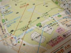 ガイドブック「東京都心(まんなか)歩く地図帳」の地図