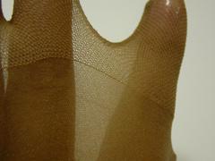 セシールの5本指ストッキングの指先の生地