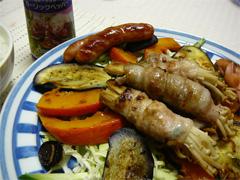 ガーリックペッパーをかけた焼き野菜
