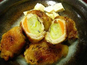 ネギの豚肉巻き、ポン酢しょうゆがけ