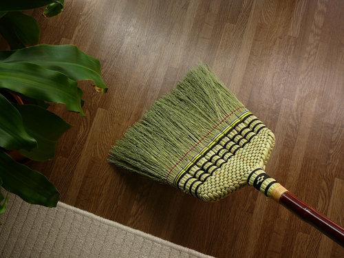 箒(ほうき)って、カーペット掃除もできるんだ!の参考画像