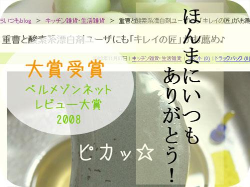 ベルメゾン レビュー大賞2008大賞受賞報告