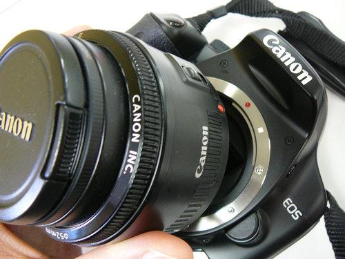キヤノン KissX2とキヤノンEF50mm F1.8 Ⅱ