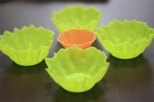 レタスみたいな緑色のシリコンカップの参考画像