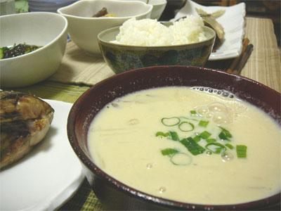 レシピ本「体脂肪計タニタの社員食堂」で作った豆乳のお味噌汁