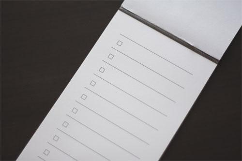 無印良品「短冊型メモ チェックリスト」が超多忙時のミスを無くしたの一枚目の画像
