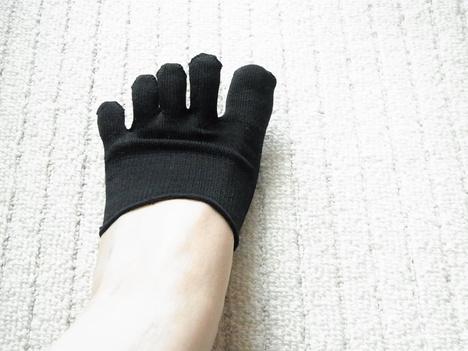 タビオのつま先だけの絹の五本指靴下