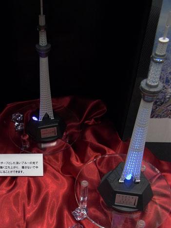 プレミアムバンダイの東京スカイツリーのプラモデル