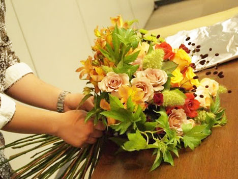 日比谷花壇のフラワーアレンジメント