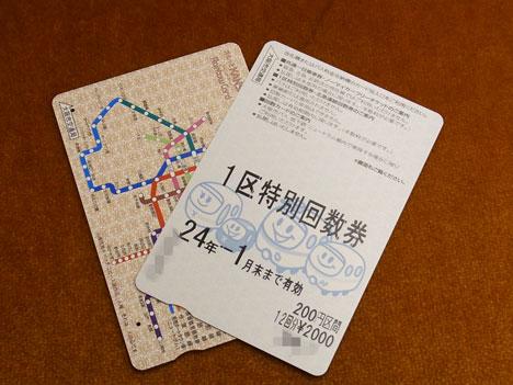 大阪市営地下鉄「一区特別回数券」がお得♪の参考画像