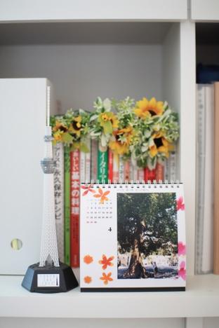 富士フイルムのマイカレンダー2013を飾った棚