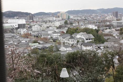 阿智神社から見下ろした美観地区