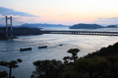 倉敷市児島の夕景