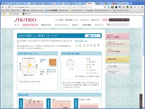 ワタシプラス資生堂の「webカウンセリング」結果のおススメの化粧品