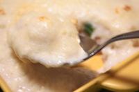 「クイーン・アリスの永久保存レシピ」で紹介されていた山芋と絹豆腐のホワイトソースのドリア