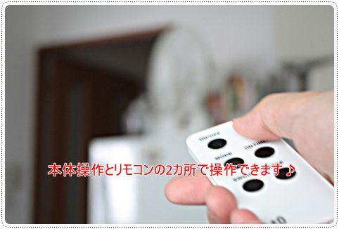 プラスマイナスゼロの扇風機「テーブルファン」のリモコンの写真