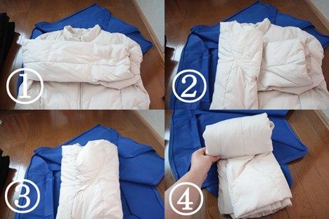 ダウンジャケットの畳み方