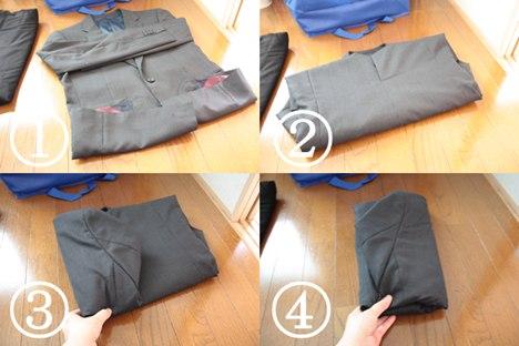 スーツのジャケットの畳み方