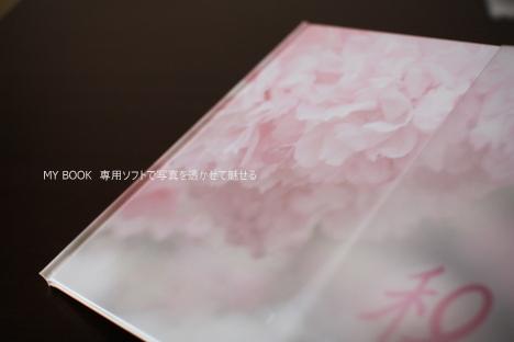 MY BOOKは作成過程も楽しむフォトブック(写真透過編)の参考画像