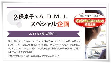 ADMJ×ショップチャンネルWEBサイト10周年 ネット限定品の一枚目の画像
