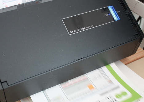 購入したScanSnap iX500という富士通のスキャナの画像