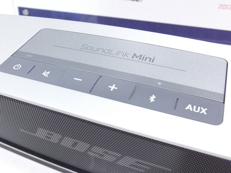 BOSEのSoundLink Mini Bluetooth speakerの操作パネル