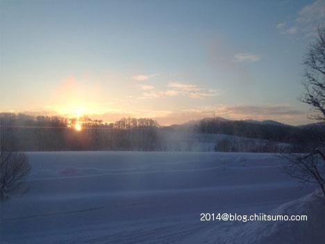 正月休みの北海道の朝焼け