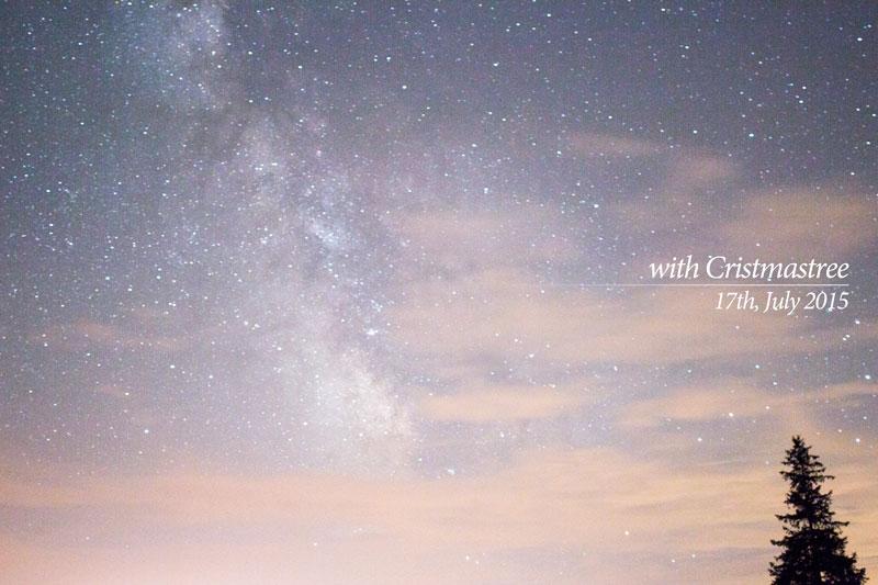 美瑛で星空を見上げたら、驚くほどの数の星が見えたの一枚目の画像