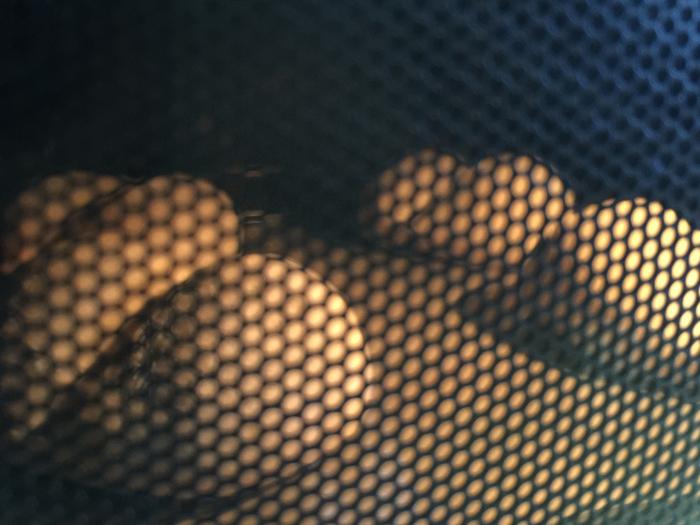 ヘルシオで焼いている白いパン