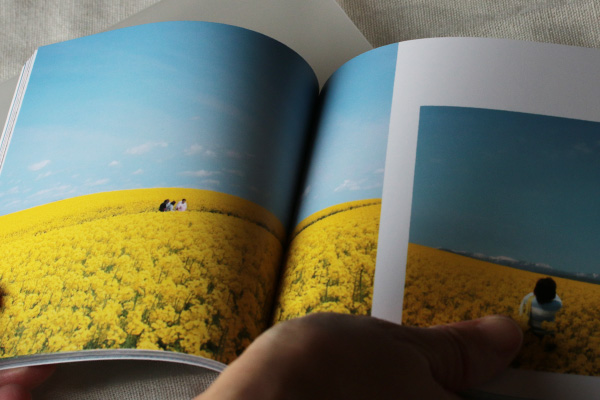 完成したMybookのフォトブック(CDサイズ、ソフトカバー、100ページ)