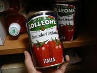 新型インフルエンザ対策の備蓄のトマトの水煮缶